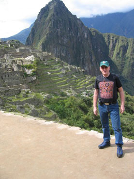 Kilian Ganly of All Decked Out visiting Machu Pichu in Peru