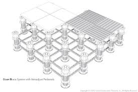 Pedestal deck illustration and design drawing of how to use pedestals to support a rooftop deck