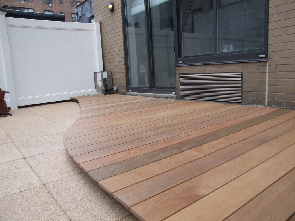 Custom designed ipe wood deck by All Decked Out NYC