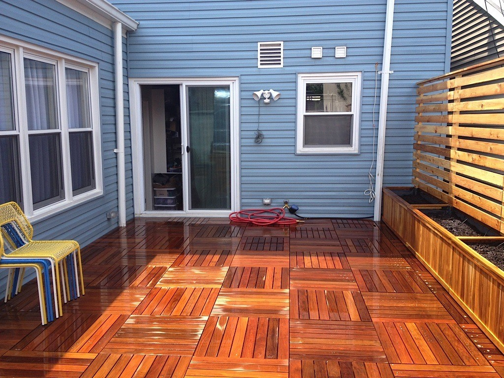 Parquet ipe paver deck in Brooklyn