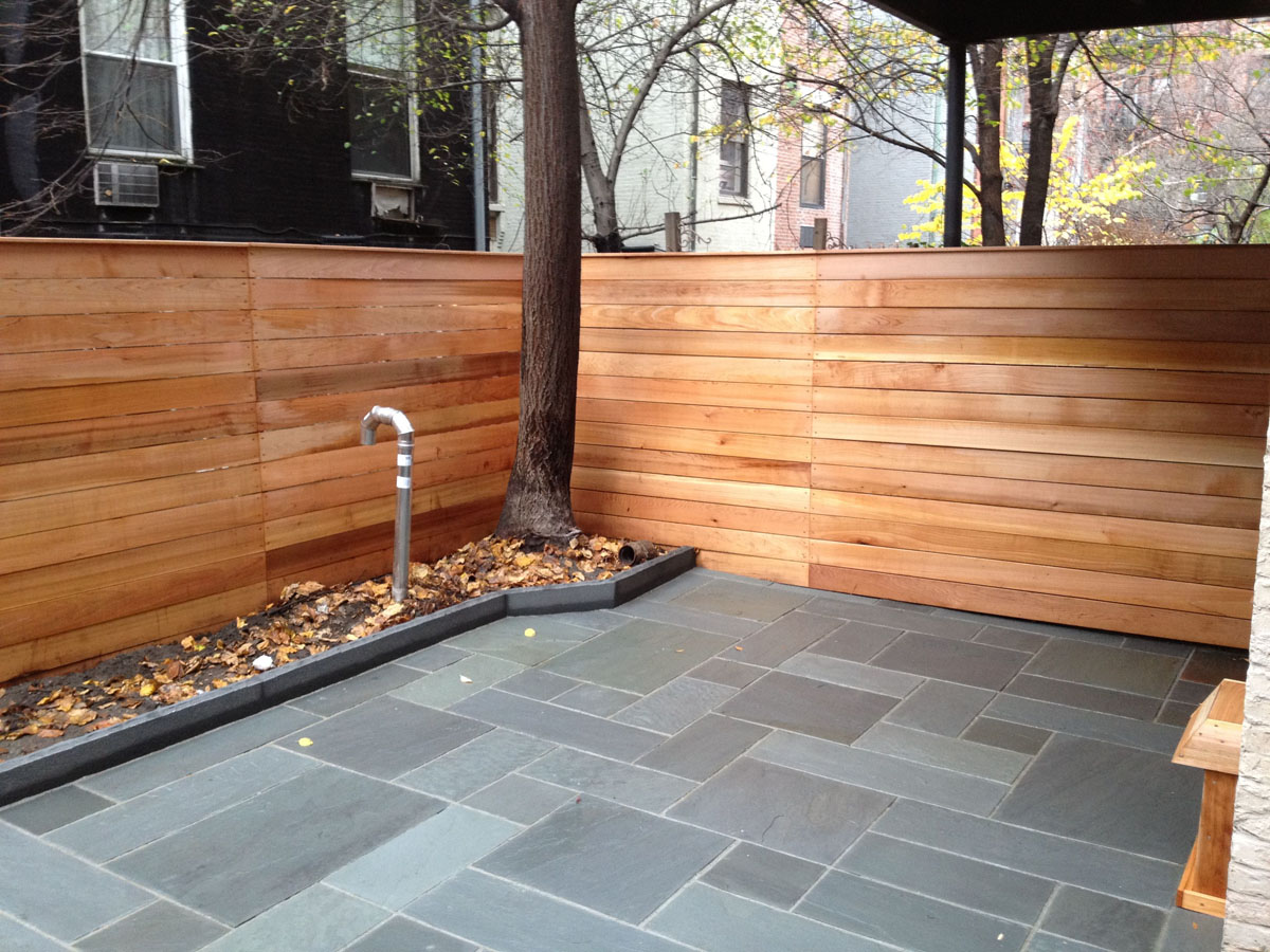 Lovely Bluestone Patio In Brooklyn With Patterned Stone Pattern
