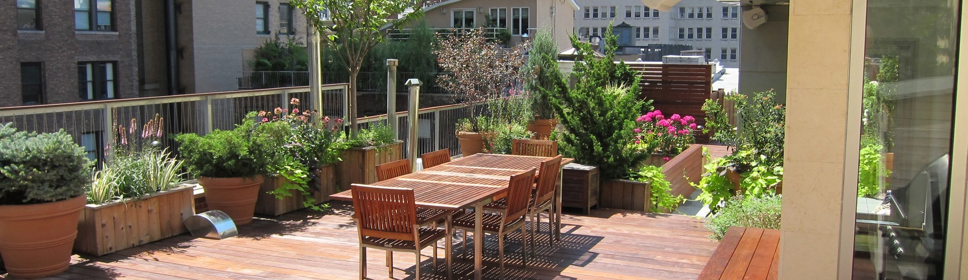 A custom rooftop deck designed by all decked out NYC