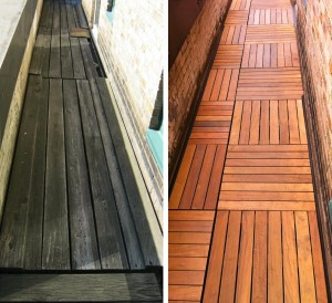 before and after custom deck NY 5