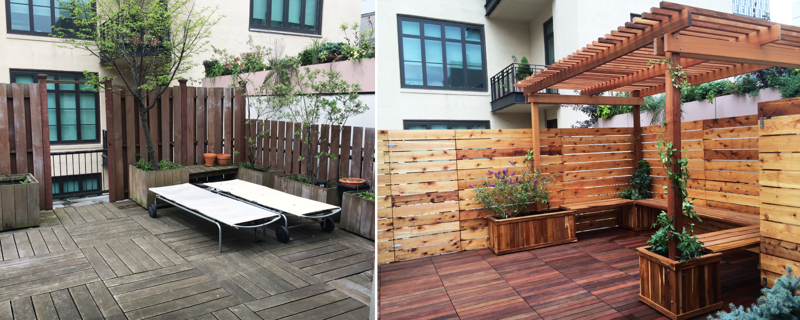 Before and after gallery all decked out for Garden decking before and after